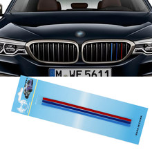 3 Pcs Colorato Sticker Griglia Anteriore Della Decalcomania per BMW 1, 3, 5, 6, X3, x5, X6 Automobili di Serie accessori Auto Adesivo auto Car styling(China)