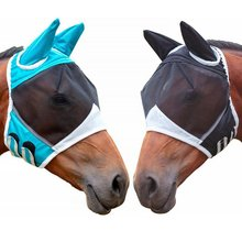 Horse Detachable Mesh Mask With Nasal Cover Horse Fly Mask Horse Full Face Mask Anti-mosquito Nose Anti-UV cashel crusader fly mask with long nose all sizes
