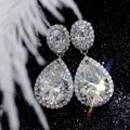 Starszuan jewel 14 k def moissanite brinco 4*6mm corte oval 8*11mm pera corte moissanite 1mm d hthp laboratório crescido diamante moda jóia