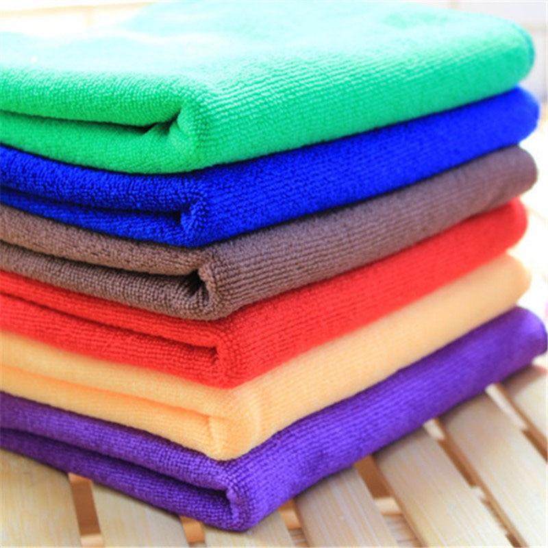 1pc Microfiber Towel Car Glass Table Kitchen Polish Wash Cloth Auto Care Light Glass Microfiber Cleaning Towels 30*30cm|Car Towel| |  - title=