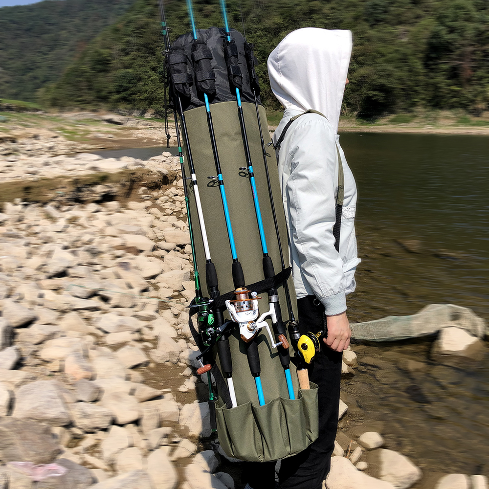 GHOTDA Fishing Bag Portable Multifunction Nylon Fishing Bags Fishing Rod Bag Case Fishing Tackle Tools Storage Bag|Fishing Bags|   - AliExpress