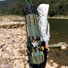 Сумка для рыбалки GHOTDA, портативная многофункциональная нейлоновая сумка для рыбалки, сумка для удочки, чехол для рыболовных снастей, сумка для хранения инструментов