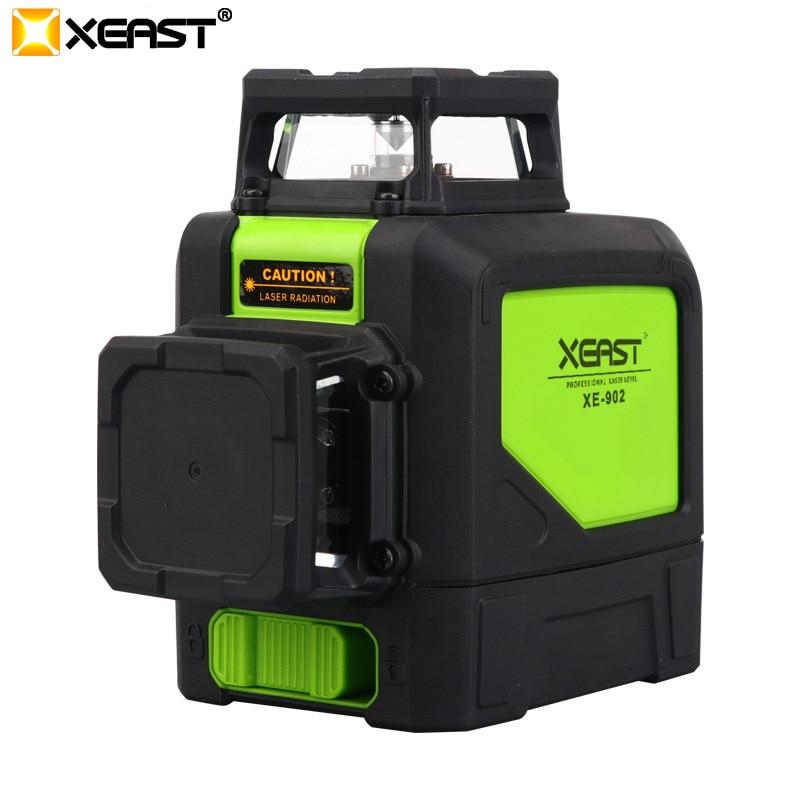 XEAST 8 linie laser ebene 3D Laser Ebene XE-902 360 Vertikale Und Horizontale Selbst nivellierung Kreuz Linie Rot Laser ebene