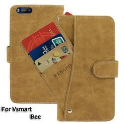 На Алиэкспресс купить чехол для смартфона vintage leather wallet vsmart bee case 5.45дюйм. flip luxury card slots cover magnet phone protective cases bags