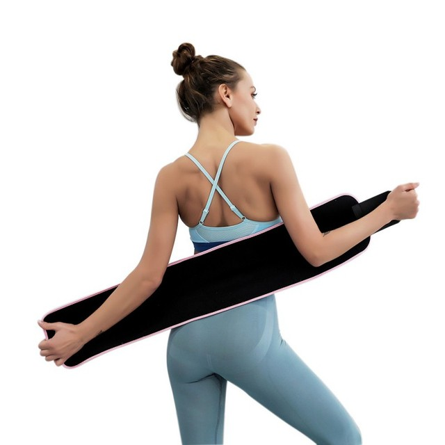 Newest ArrivalWaist / Arms / Thigh Rubber Belt Adjustable Sweating Slimming Wrap Brace Body Building Fitness Sportswear Accessor 3