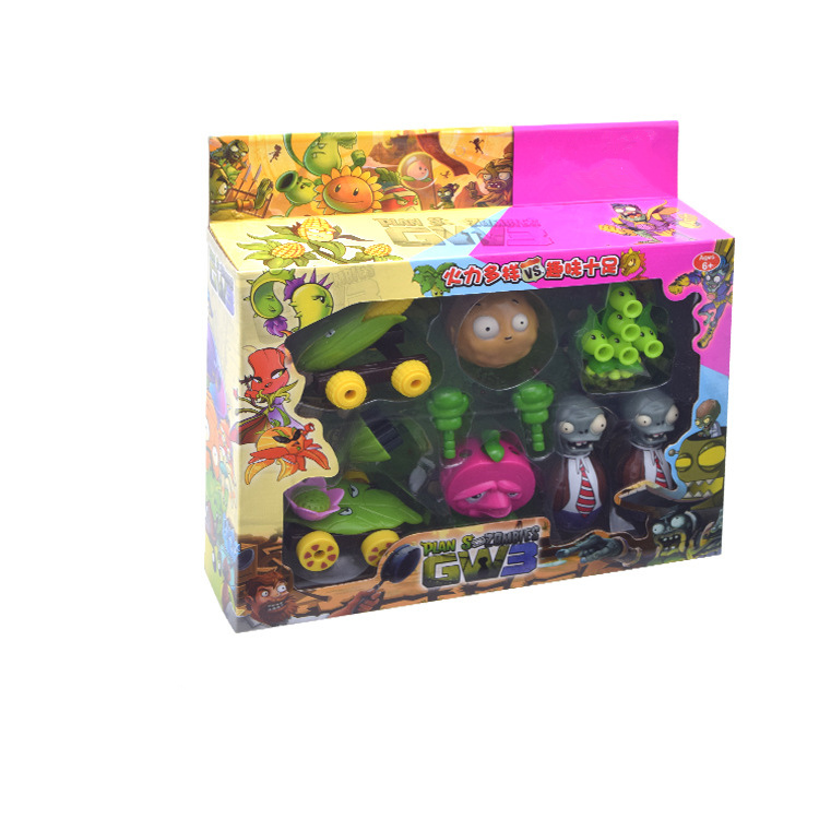 Plants Vs Zombies Struck Game Pea Shooter Role Play Battles Building Block PVZ Action Figure Model Toy For Kid Collection Gifts