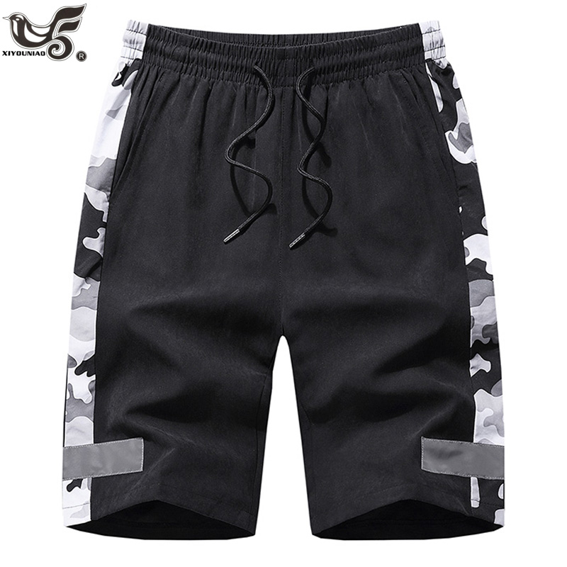 Big Size 7XL 8XL Men`s Shorts Summer Sportswear Breathable Quick-dry Gym Joggering Shorts Outwear Camouflage Reflective Trousers