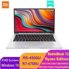 Xiaomi RedmiBook 13 Laptop Ryzen Edition Notebook AMD Ryzen 4700U/4500U 13.3 Inch Display 512GB/1T SSD Windows 10 Computer