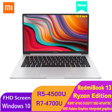 Xiaomi RedmiBook 13 Laptop Ryzen Edition Notebook AMD Ryzen 4700U/4500U 13,3 Zoll Display 512GB/1T SSD Windows 10 Computer