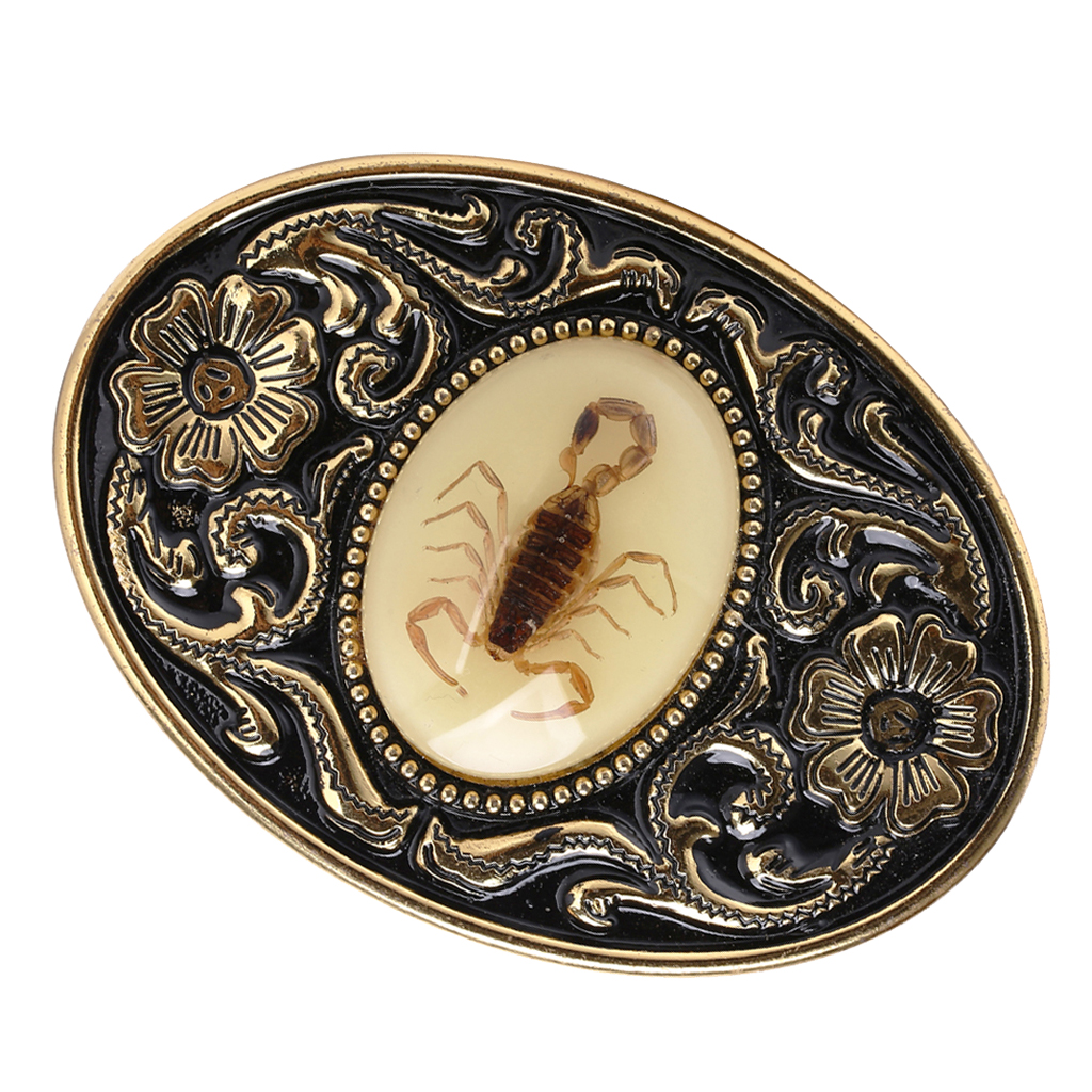 3D Scorpion Western Metal Rodeo Belt Buckle For Cowboy Cowgirl  Suitable For 3.6-3.9cm Width Snap On Belt