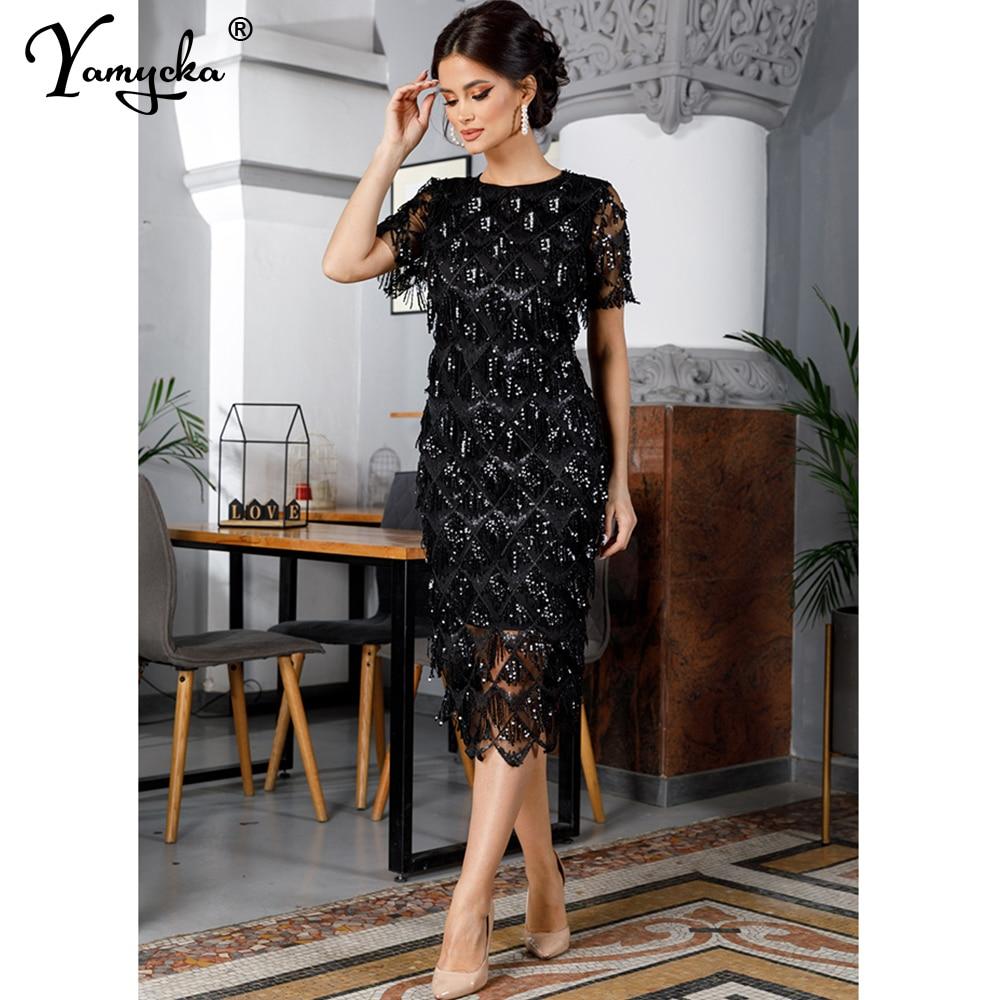 Sexy Black vintage maxi sequin summer dress women elegant club long party dresses bodycon office woman dress clothes vestidos HL|Dresses| - AliExpress