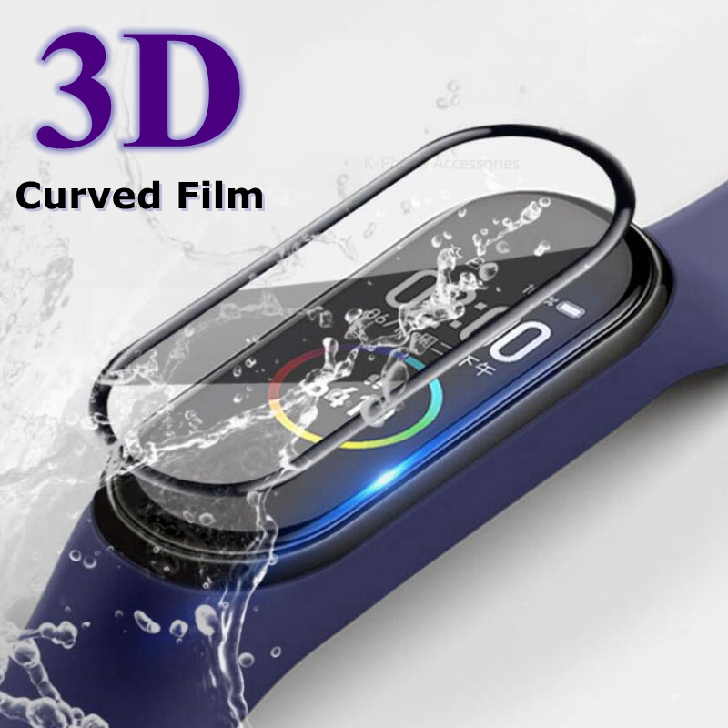 3D Screen Protector for xiaomi mi band 4 5 Protective Glass Miband 4 Full Curved Edge Scratch-resistant for xiomi mi band4 Film(China)