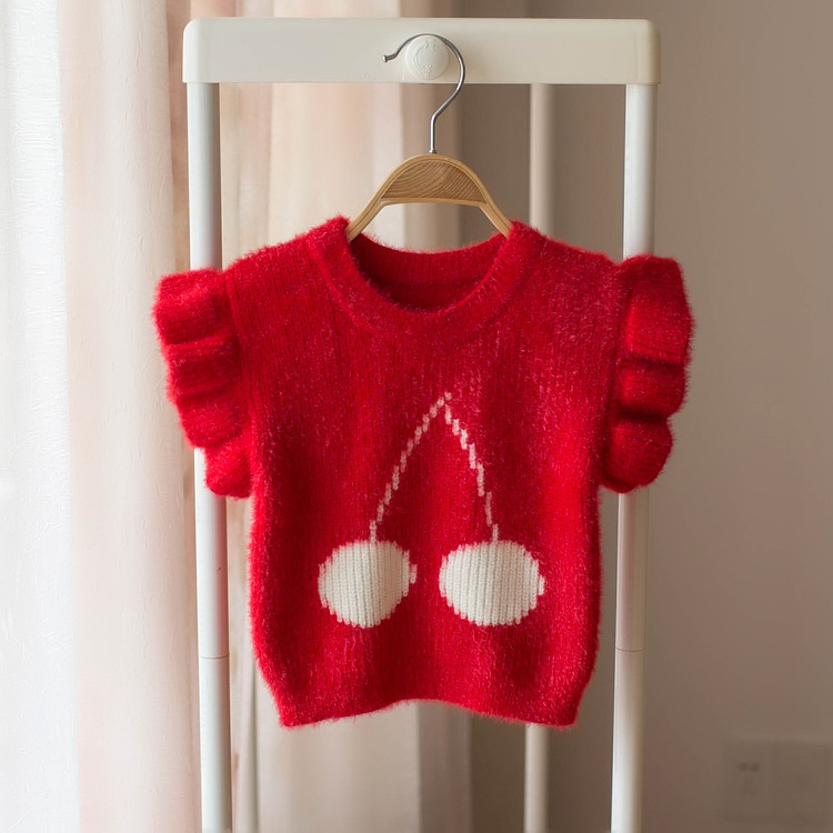 Infant Sweater Vest 2019 New Style 0 A 4-Year-Old Female Baby Sweater Tops Small CHILDREN'S Cotton Knitwear