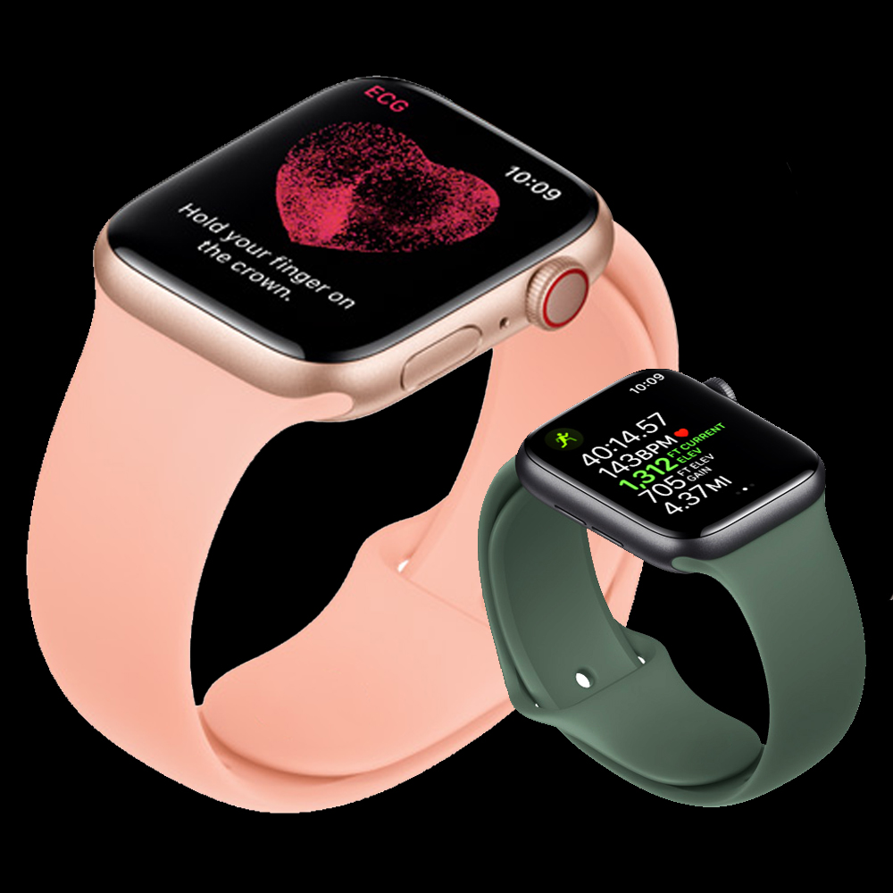 Strap For Apple Watch 5 Band 44mm 40mm Sport Silicone Watchband Wrist Bracelet Pulseira Correa Series 5 4 Iwatch Band 38mm 42mm