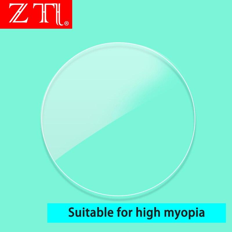 ZT 1.74 haute indice Ultra mince lentilles HMC asphérique Anti UV400 myopie clair optique Prescription lentille personnalisée non coupée - 2