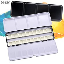 Tin-Box Palette Watercolor-Paint-Tray Empty Full-Pan/half-Pan Case with Acrylic for Art-Painting