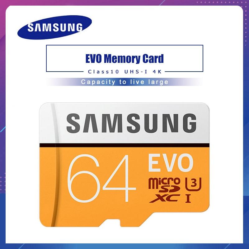 SAMSUNG Micro SD Memory Card 32G 64G 128G 256 MicroSD Cards SDHC SDXC Max 95Ms EVO 32GB 64GB C10 TF Trans Flash Micro Card
