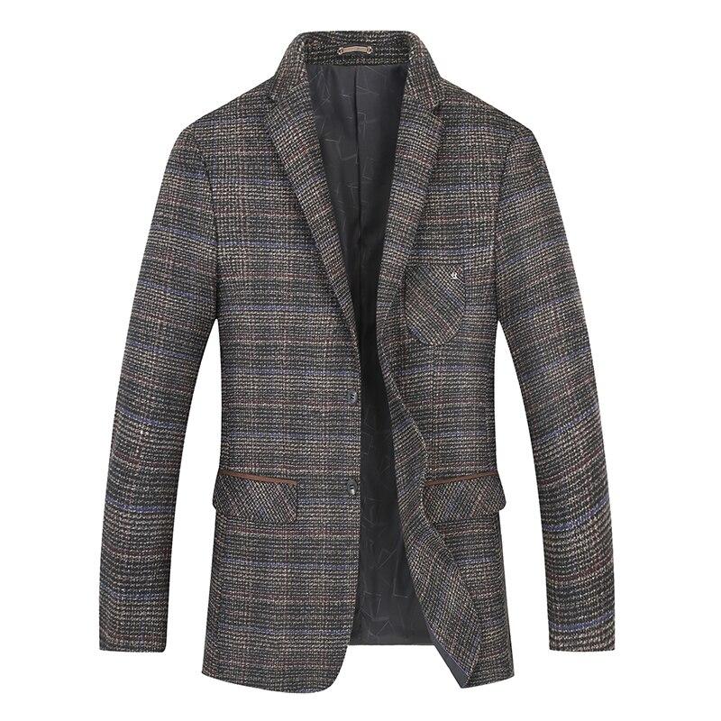 New Big Plus Size 8xl 7xl Autumn Winter Business Coat Add  Fertilizer Increased Male Casual Suit Jacket Loose Fat Male Jacket