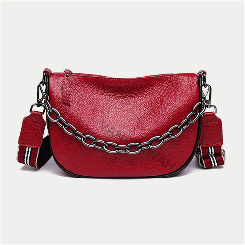 Casual Small Bucket Bag High Quality Soft Leather Shoulder Bags for Women 2021 Fashion Chain Handle Crossbody Bag Brand Handbags