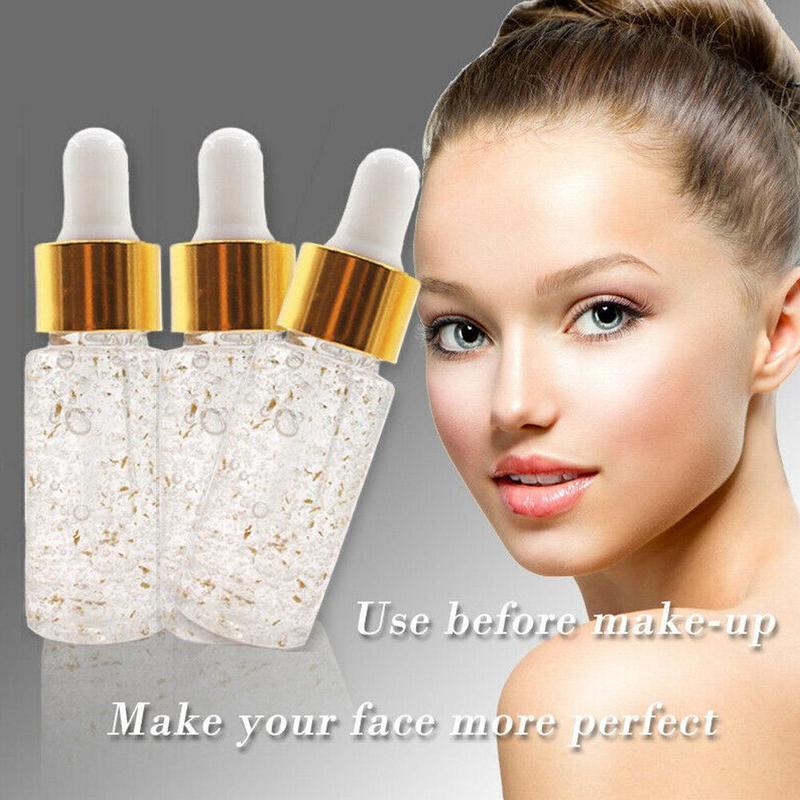 Hyaluronique Acid Primer Make Up Base 24k Gold Oil Control Serum Brighten Moisturizing Hydrating Smooth Soft Skin Pore Minimizer