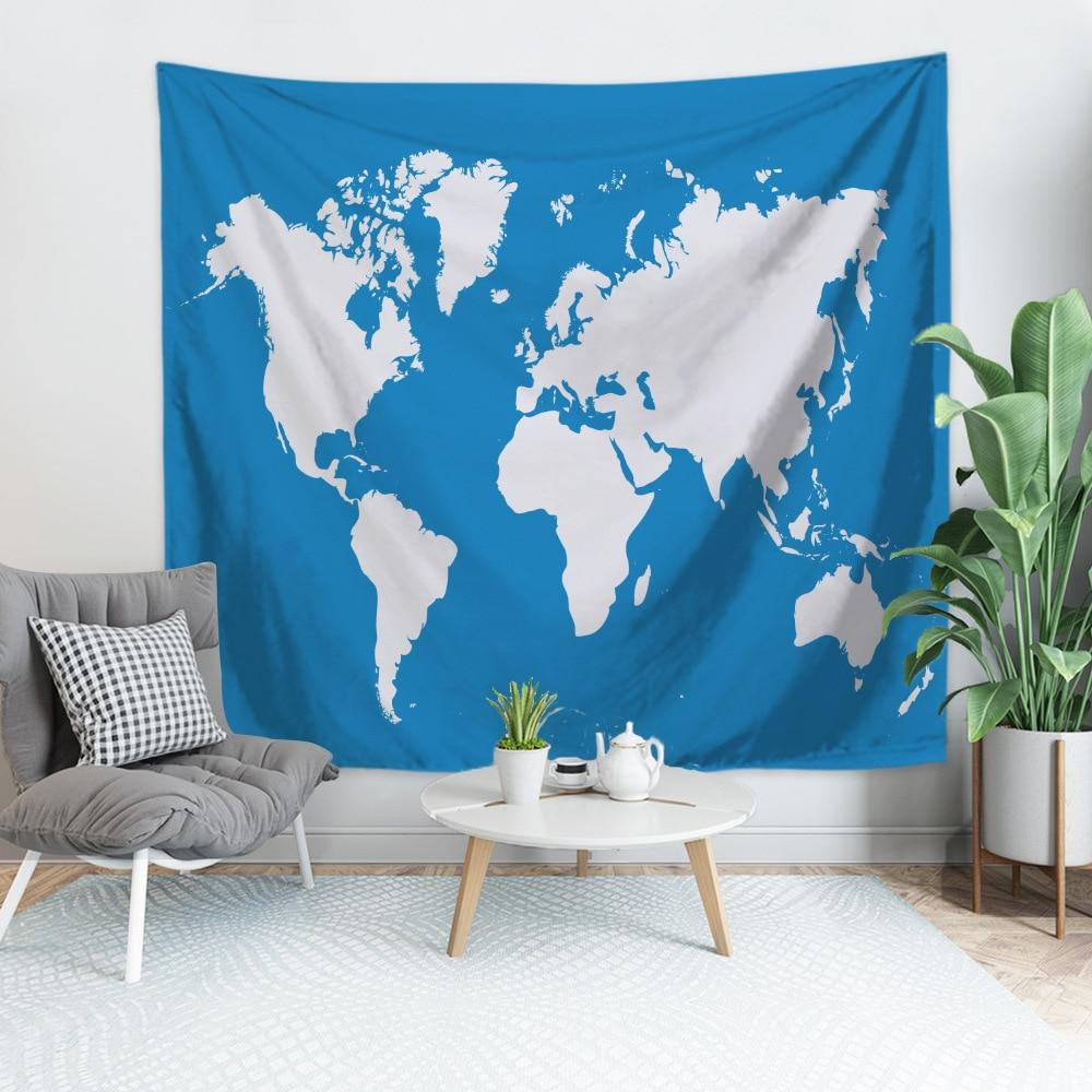 Популярная карта мира гобелен для домашнего декора/сидячий ковер