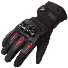 1 Pair Professional Touch Screen Winter Motorcycle Gloves Warm Waterproof Protective Taslan Fabric