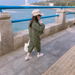 Image 2 - 2019 Autumn New Arrival Korean style cotton clothing sets casual jacket with harlen long pants fashion suit for baby girls boys