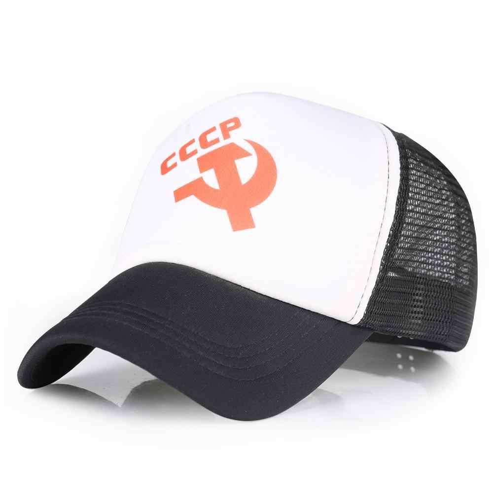 Cappelli da Baseball Nero Rosso Russo Distintivo Cccp Uomini Donne Regolabile Cap Maschio Femmina Snapback Caps Visiera Hip Hop Osso Gorras cappello