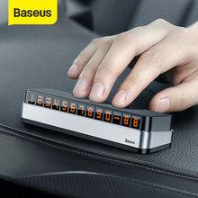 Adesivi per Auto Baseus carta di parcheggio temporanea porta numero di telefono parcheggio Auto targa per cellulare adesivi per numeri di Auto
