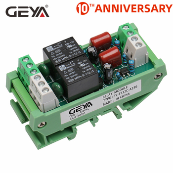 цена на Free Shipping GEYA 2 Channel Relay Module AC/DC 12V 24V AC230V Electromagnetic Relay General Purpose AC220v Relay Module