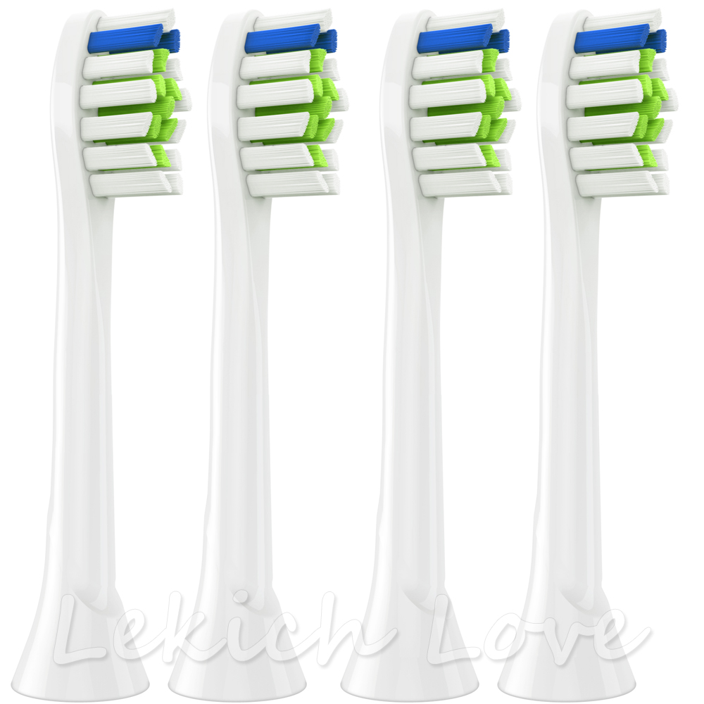 4 Pcs Toothbrush Heads Compatible with Philips Sonicare Brush Heads, Fit for 2 Series, 3 Series Gum Health, DiamondClean image