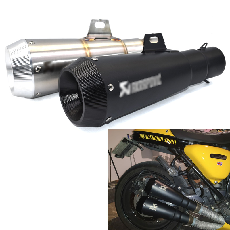 Motorcycle Exhaust Pipe Universal for Escape moto Right Left Side FOR CRF 230 GSR 600 CB650F R6 GSXR750 CBR500RR ZX6R ER6N image