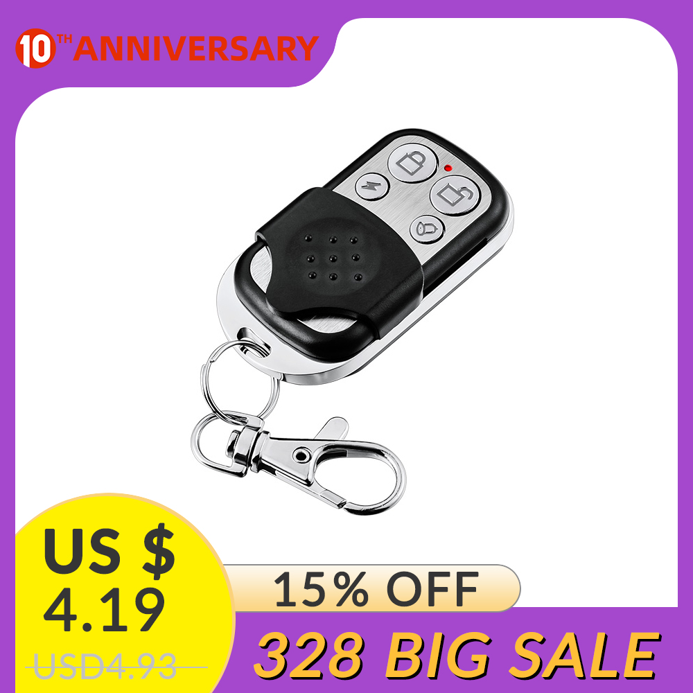 Wireless GSM Alarm System 433MHz Alarm Remote Control Metal Alarm Keychain Remote Controller Working For 10A Alarm Systems