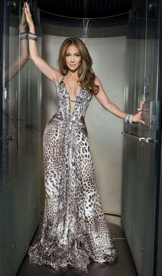 woman dressed in tiger print dress