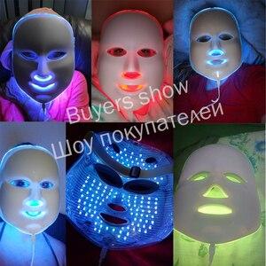 Image 5 - 7 צבעים Led פנים מסכת יופי טיפוח עור התחדשות קמטים אקנה הסרת פנים יופי טיפול הלבנת להדק מכשיר