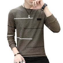 Korean o-neck long sleeve sweatshirts hoodie men 2019 autumn pullover bottoming trend clothes tide brand warm sweater