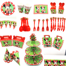 Classic cartoon red Minnie party supplies birthday decoration theme girls tableware