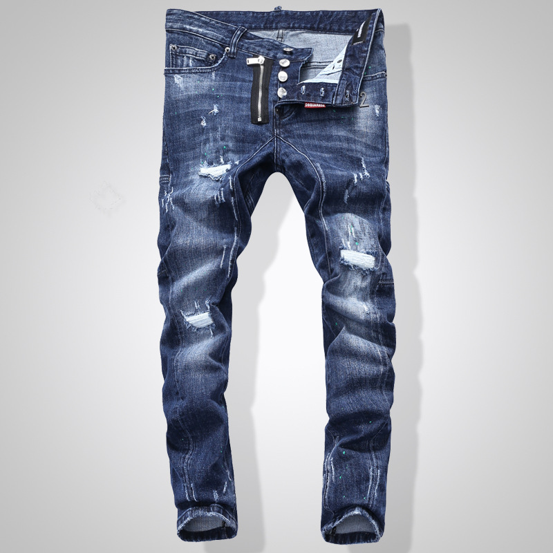 NEW Men Jeans Ripped For Men Skinny DSQ Jeans Pants Men Jeans  Button Outwear Man Pants