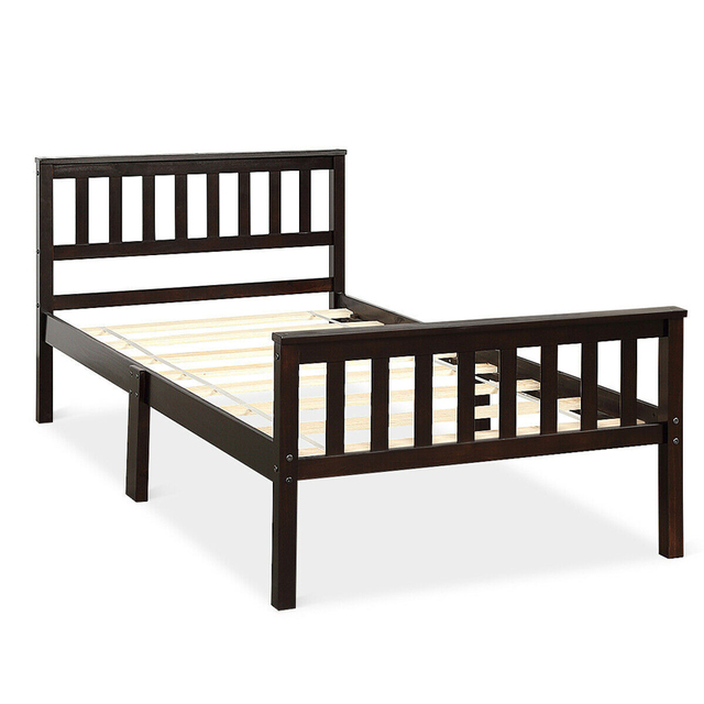Twin Size Pine Wood Bed Frame  4