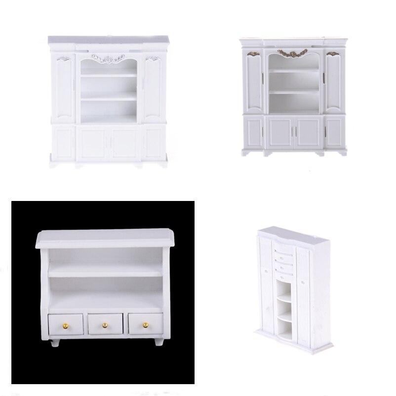 Baru Mini Cabinet Model Dada Lemari Rak Putih Kabinet Dapur Makan Tampilan Display Rumah Boneka Dapur Rumah Boneka Aksesori Furniture Mainan Aliexpress