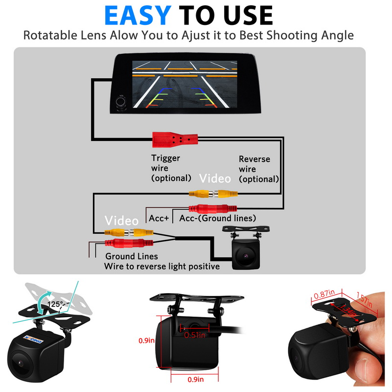 lowest price CCD HD Auto Car Rear View Camera Reverse Parking Night Vision Waterproof for Mercedes Benz CLK W209 W203 E Class W211 W219
