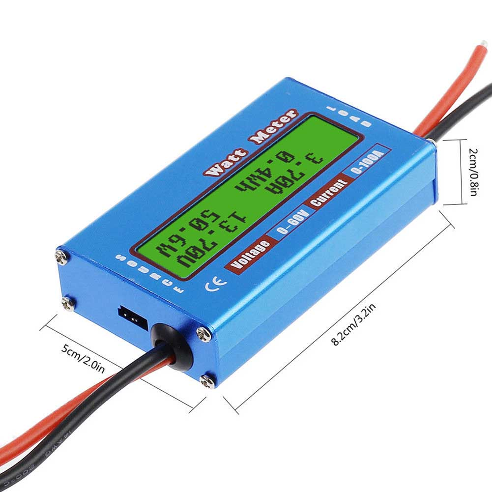 Newly Digital Monitor LCD Watt Meter 60V/100A DC Ammeter RC Battery Power Amp Analyzer CTN88