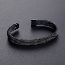 New Fashion Simple Black Braided Charm Cuff Bracelets Men Women Jewelry Casual Chain Round Bangles