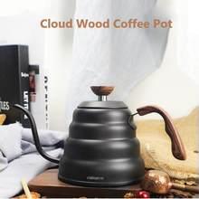 Prémio despeje sobre a chaleira de café com para a temperatura precisa 40floz-gooseneck chaleira de chá-5 xícara de aço inoxidável bule