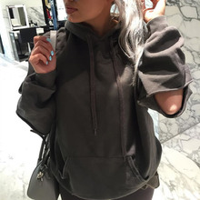 Cotton Women Sweatshirts Elegant Loose Hollow Solid Hoodies Female Casual Long Sleeve For Girls