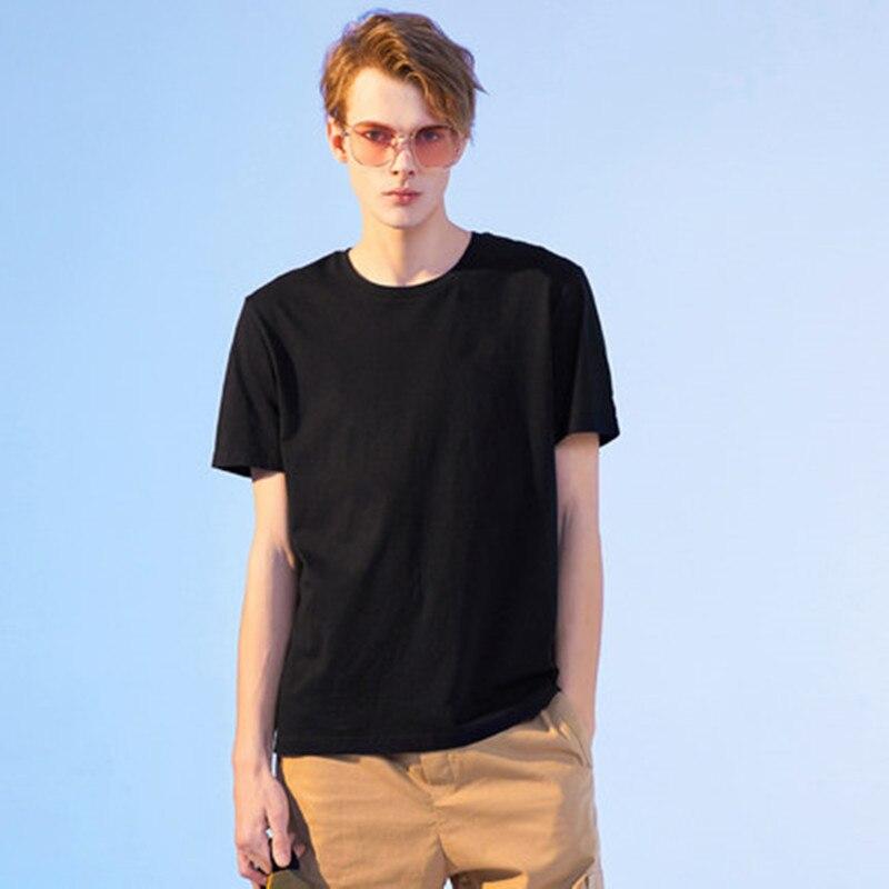 Image 2 - Pioneer Camp 5pcs Simple tshirt Creative Design Line Solid 100%  Cotton T Shirts Mens New Arrival Short Sleeve Men t shirt  2019T-Shirts