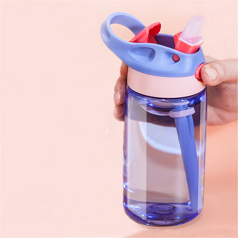 Plastic Cycling Hiking Camping Cup Home Kitchen Straw Drinking Water Bottle