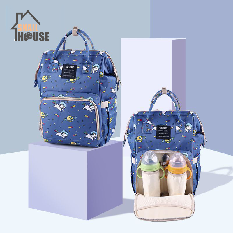 Snailhouse Mummy Bag Multi-function Large Capacity Diaper Bag Printing Fashion Maternal Travel Shoulder Backpack Nursing Bags