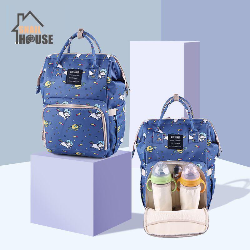 Snailhouse Mummy Bag Multi-function Large Capacity Diaper Bag Printing Fashion Maternal Travel Shoulder Backpack Nursing Bags