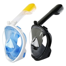 Snorkel-Mask Diving Full-Face Action-Camera with Mount for Adults Viewing Panoramic